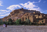 Kasbah of Ait Benhaddou at the Foot of the Atlas Mountains