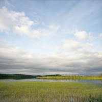 Finland, Hossa National Park, View of the lake