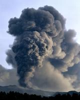 volcanic eruption, Mt. Etna, Sicily, Nov. 2002