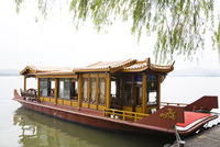 China, Hangzhou, Passenger boat on West Lake