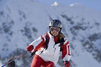 Austria, Salzburger Land, Altenmarkt- Zauchensee, Young woman skiing 20025288759| 写真素材・ストックフォト・画像・イラスト素材|アマナイメージズ