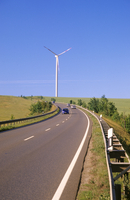 Germany, Thuringia, Altenburg, Wind tubine