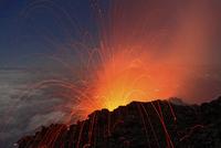 Guatemala, Vulcan Fuego, Blick v. Vulkan Acatenango