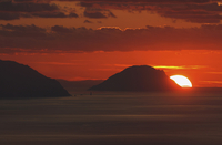Italy, Alicudi Islands, Sunset