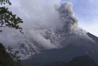 Indonesia, Smoke Rising from Volcano