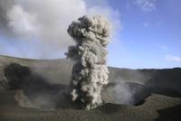 Vanuatu,Tafea,Tanna Island, Smoke coming from Mount Yasur