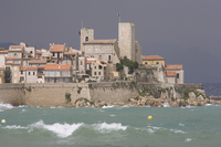France, Antibes, Grimaldi Castle on shore