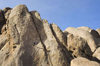 Man Rappelling Down the Tall Wall,Alabama Hills,Lone Pine