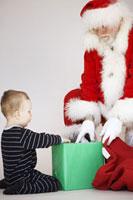 Boy REceiving Present from Santa