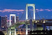 Rainbow Bridge,Odaiba,Tokyo,Kanto Region,Honshu,Japan