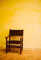 Armchair against a wall