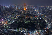 Cityscape with Tokyo Tower,Minato,Tokyo,Japan
