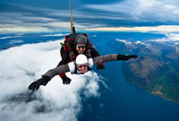 Tandem Sky Diving over The Remarkables in Queenstown,South
