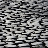 Cobblestone Street at The Cloisters�CMetropolitan Museum of
