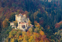 Hohenschwangau Castle in Autumn,Hohenschwangau,Schwangau