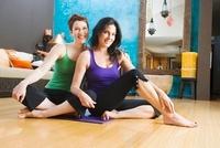 Women in Yoga Studio