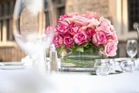 Rose Centrepiece on Table