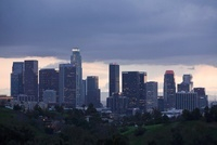 Skyline of Downtown Los Angeles, Viewedfrom Elysian Park, Lo