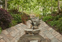 Rocks and Stream in Garden, Getty Museum, Getty Center, Los
