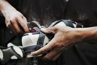 Shoemaker working on Shoe
