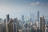 View of Hong Kong Island and Kowloon Peninsula from Victoria