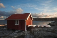 Boat Hut at Sunrise, Bohuslaen, Sweden