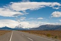 Road, Fitz Roy Massif, Los Glaciares National Park, Santa Cr