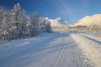 Road in Winter, Breivikeidet, Troms, Norway