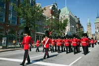 Changing of the Guard Marching on ElginStreet, Ottawa, Ontar