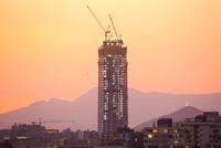 Construction of Costanera Center, Santiago, Chile
