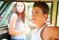 Teenagers Hanging Out in Car