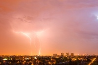 Storm, Santiago, Chile