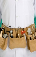 Doctor Carrying Medical Supplies in Tool Belt