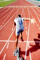 Runner Leaving Starting Block