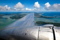 View of Ocean and Islands from DC-3 Airplane, Kingdom of Ton