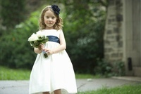 Flower Girl Holding Bouquet