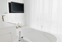Bathroom with Television