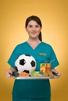 Nurse Holding Tray of Healthy Options