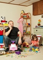 Father and Daughter in Playroom