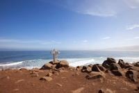 Cross on Cliff, Punta del Lobos, O'Higgins Region, Chile