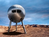 Spaceship in Desert