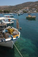 Fishing Boats in Harbour, Kini, Syros, Cyclades Islands, Gre