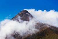 Volcan de Fuego as seen from Acatenango, Sacatepequez, Guate