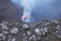 Lava Lake, Mount Nyiragongo, Virunga National Park, Democrat