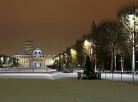Central Ecole Militaire Building and Champs de Mars at Night