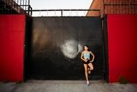 Athletic Woman Taking a Break