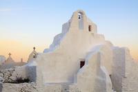 Church of Panagia Paraportiani at Dawn, Chora, Mykonos Town, Mykonos, Cyclades Islands, Greece
