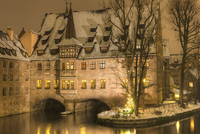 Heilig-Geist-Spital at Night, Nuremberg, Germany