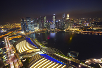 Overview of Marina Bay at Night, Singapore