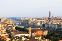City Skyline with Arno River and Ponte Vecchio, Florence, Firenze Province, Italy